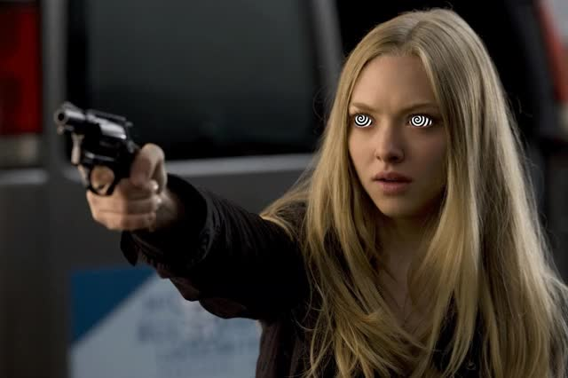 Watch and share Amanda Seyfried GIFs and Gun GIFs on Gfycat