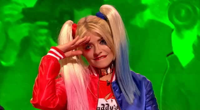 Watch and share Holly Willoughby - Harley Quinn Salute GIFs on Gfycat