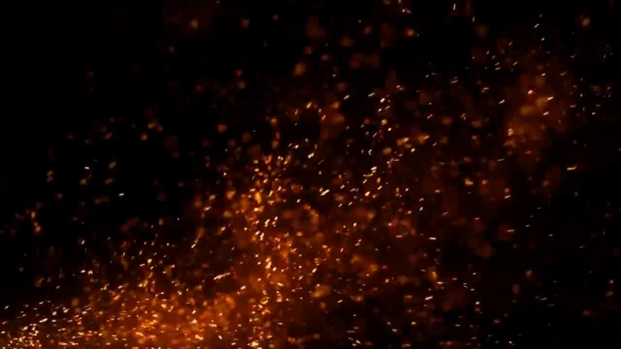 Free Fire Particles Background Footage 2 Creative Commons