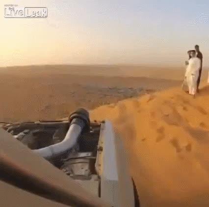carcrash, dashcam, dashcamgifs, Head on in the dunes GIFs