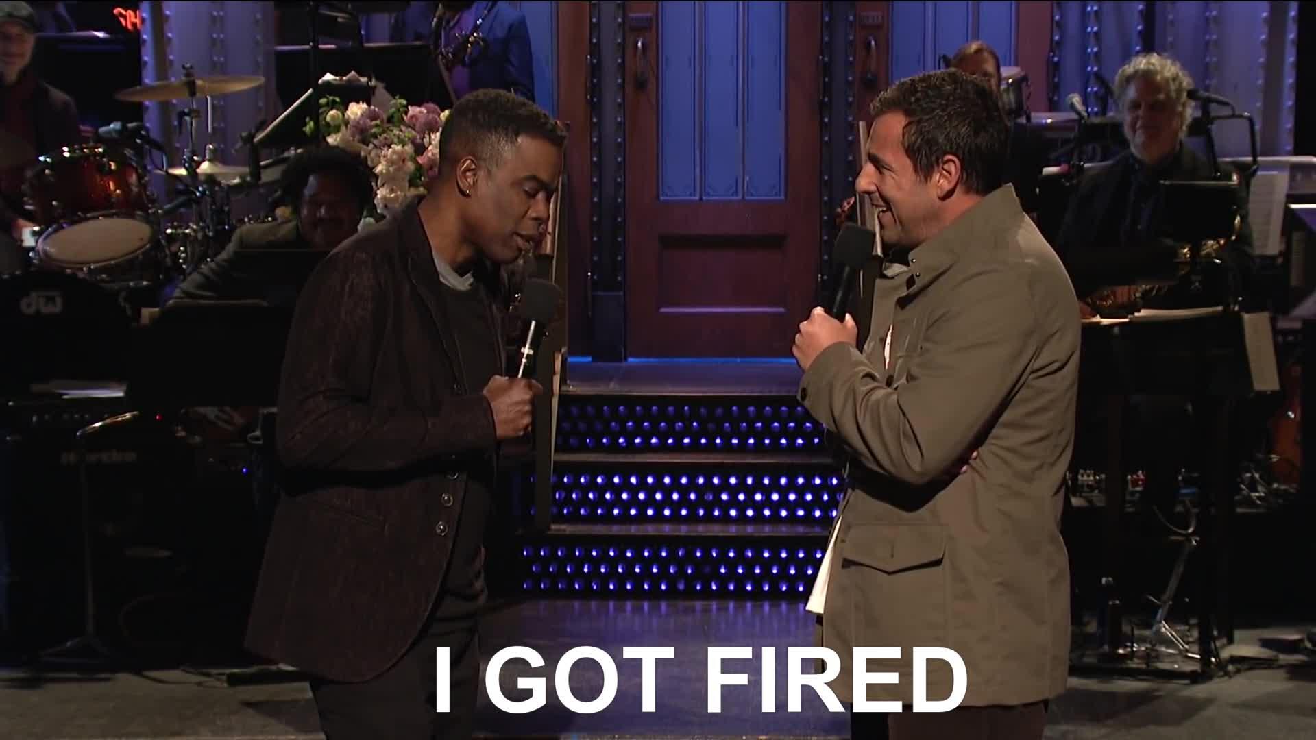 adam sandler, chris rock, comedy, fired, saturday night live, snl, Chris Rock Adam Sandler I Was Fired SNL GIFs