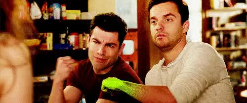 Watch and share Max Greenfield GIFs and Jake Johnson GIFs on Gfycat