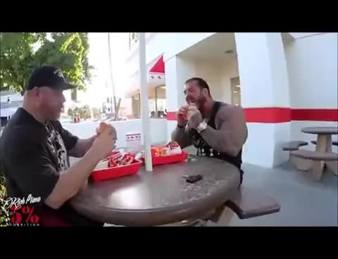 Watch Rich Piana eating hamburgers GIF on Gfycat. Discover more related GIFs on Gfycat