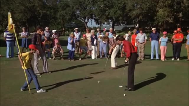 Watch and share Caddy Shack - Danny Noonan Putt GIFs on Gfycat