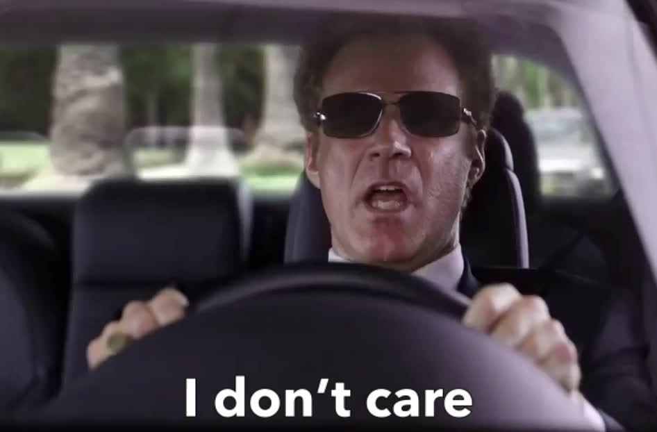 GIF Brewery, care, dgaf, don't, farrell, ferrell, funny, get, hard, sing, singing, song, will, Will Ferrell - I don't care GIFs
