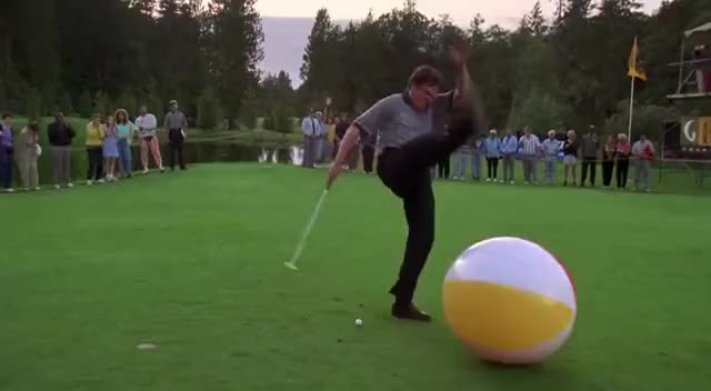Watch and share Happy Gilmore - This Is Golf, Not A Rock Concert GIFs on Gfycat