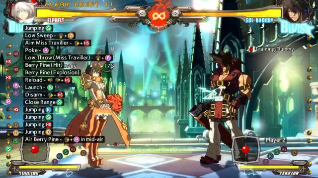 Watch and share GGXrd Rev2 Elphelt | 2D (KD) > 236P > ~9j > ~j.S Stand-hit Confirm (Standard Version) GIFs by SSF|Jaxas on Gfycat