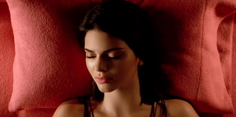 bedtime, enchante, fergie, goodnight, kendall jenner, music video, sleep, sleeping, Kendall Jenner Sleeping GIFs