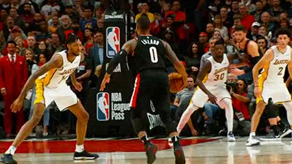 Watch and share Damian Lillard — Portland Trail Blazers GIFs by Off-Hand on Gfycat