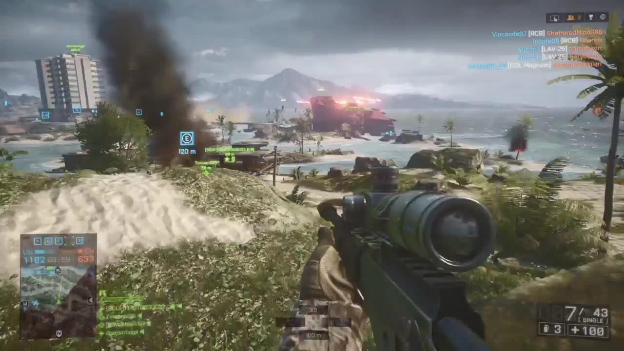 #PS4share, Alex Miles, Battlefield 4™, Gaming, Malex101, PlayStation 4, Sony Interactive Entertainment, Battlefield 4 - Epic Noscope! GIFs