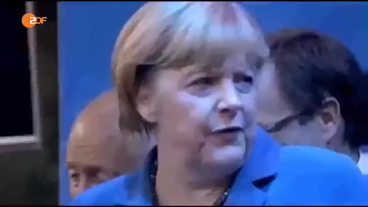 angela merkel, fahne, flag, politics, Angela Merkel disgusted by German Flag - Throws it away at Victory Celebration of own Party GIFs