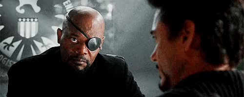 Watch this nick fury GIF on Gfycat. Discover more ironmanedit, marveledit, my gifs, nick fury, samuel l jackson, tony stark GIFs on Gfycat