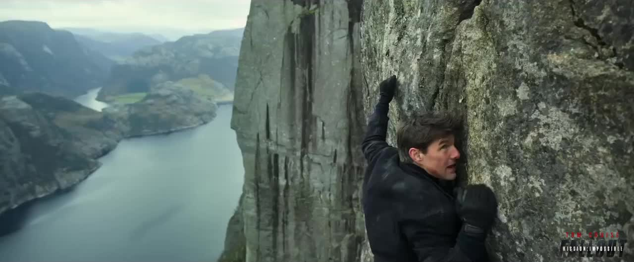 action, blockbuster, epic, fallout, m.i., mission impossible, mission impossible fallout, mission: impossible, movies, paramount pictures, tom cruise, Mountainside Scaling GIFs