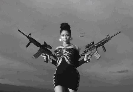 Watch and share Nicki Minaj Lookin Guns GIFs on Gfycat