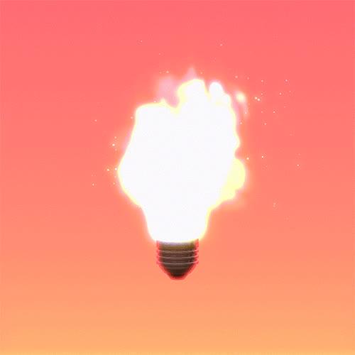 idea, light bulb, lightbulb, light bulb GIFs
