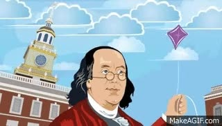 Watch and share Ben Franklin   Kite Experiment Animation GIFs on Gfycat