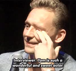 Watch and share He's So Embarrassed GIFs and Tom Hiddleston GIFs on Gfycat