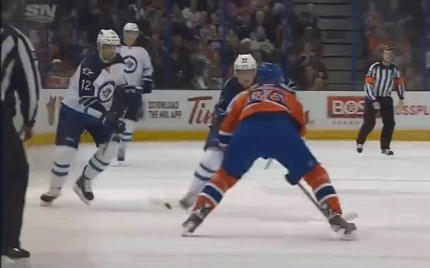 edmontonoilers, hockey, Devin Berg (linesman) hurt GIFs