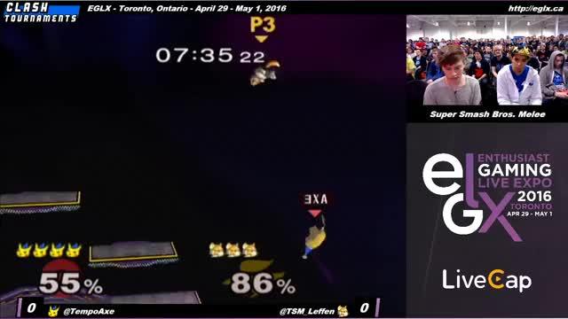EGLX - Axe (Pikachu) vs Leffen (Fox) - SSBM