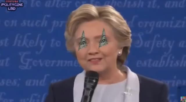 Watch and share Clinton (eyes Replaced To Spin Illuminati Sign) GIFs on Gfycat