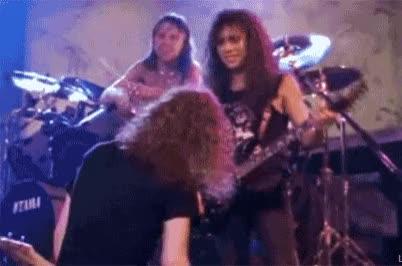 Watch and share Jason Newsted GIFs and Kirk Hammett GIFs on Gfycat