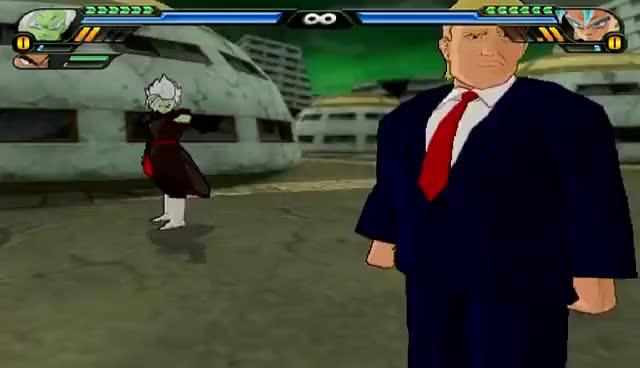 Watch and share Donald Trump And Merged Zamasu Fusion | Trumpasu | DBZ Tenkaichi 3 (MOD) GIFs on Gfycat