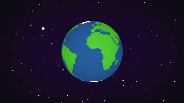 Watch and share Motion Graphics - Rotating Earth & Space Background GIFs on Gfycat