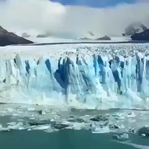 Watch and share Perito Moreno Glacier Calving GIFs by tothetenthpower on Gfycat