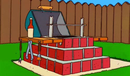 Watch and share Homer's Barbeque Pit Kit GIFs on Gfycat
