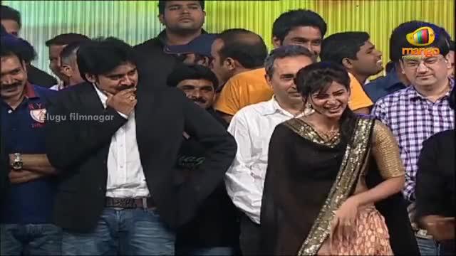 "Watch and share Samantha's Bisket To ""Pawan Kalyan"" Says Ali  Attarintiki Daredi Audio Launch HD  Trivikram Srinivas GIFs on Gfycat"