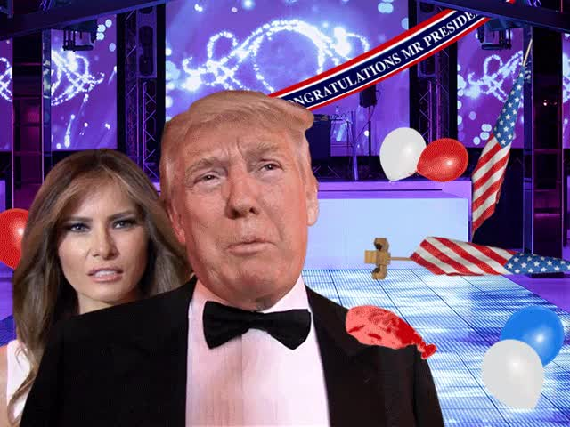 donald trump inagural party composite