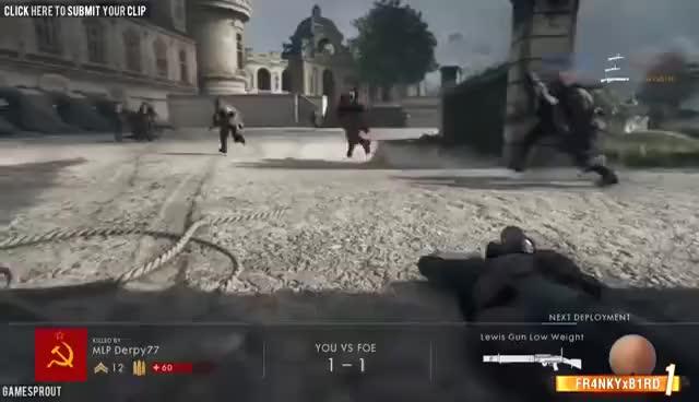 Watch and share Battlefield 1 - Random & Funny Moments #3 (Drifting? Funny Death Screams!) GIFs on Gfycat