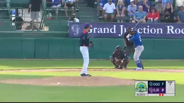 Watch Heredia's second homer for Ogden GIF by Razzball (@razzball) on Gfycat. Discover more grand junction rockies, milb, minor leagues GIFs on Gfycat