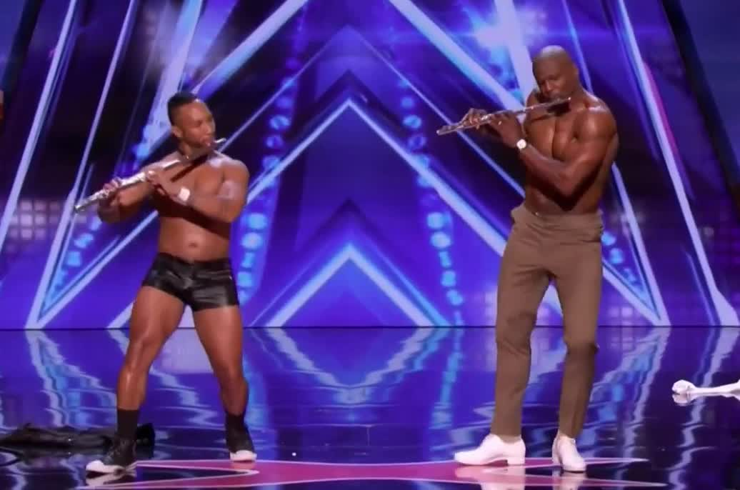 act, agt, america's, crews, dance, dancing, duo, flute, got, hot, hunk, moves, omg, play, sexy, strip, stripping, striptease, talent, terry, Terry knows how to play the flute GIFs