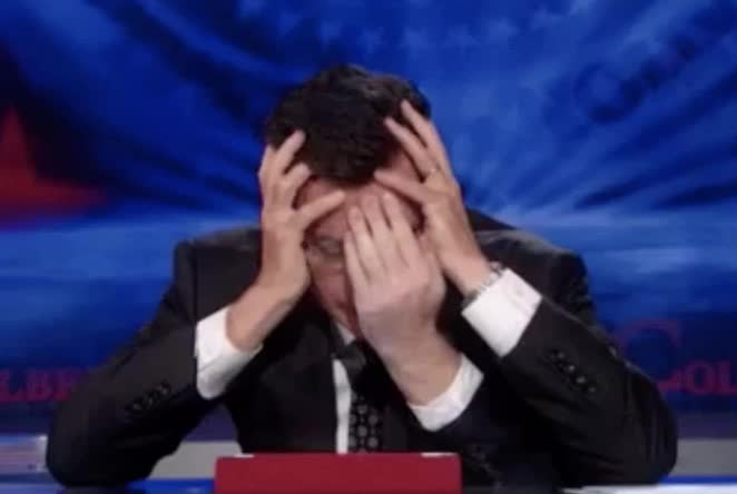 embarrassed, facepalm, stephen colbert GIFs
