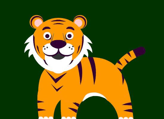 animal, cute, ecard, funny, jungle, tiger, tigers, Tiger Card GIFs