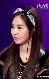 kwon yuri, mygifs, snsd, yulti, yuri, yuri kwon, soulless yul while listening to tiffany GIFs