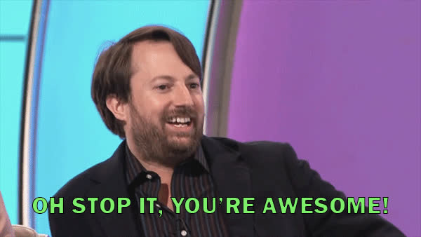 awesome, david mitchelle, stop it, Oh stop it, you're awesome GIFs