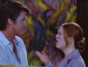 Watch and share Julianne Moore GIFs and Pierce Brosnan GIFs on Gfycat
