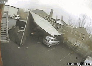 reversegif, Carport blows away (reddit) GIFs