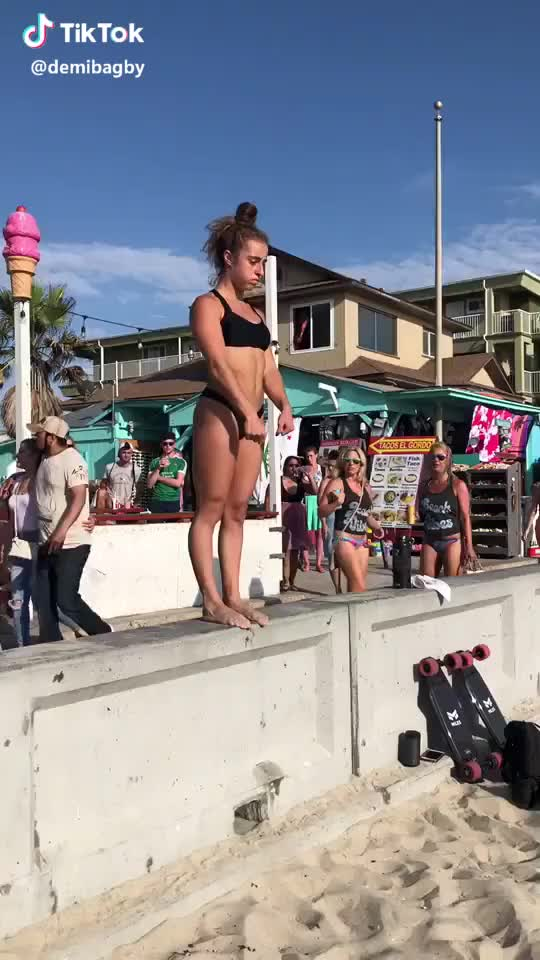 Watch Dizzy yet ?!! IG DemiBagby #fitness #beach #flips GIF by gifs (@awaretoe) on Gfycat. Discover more beach, fitness, flips GIFs on Gfycat