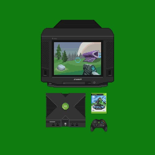 Watch console GIF on Gfycat. Discover more chief, halo, master, microsoft, pixels, retro, xbox GIFs on Gfycat