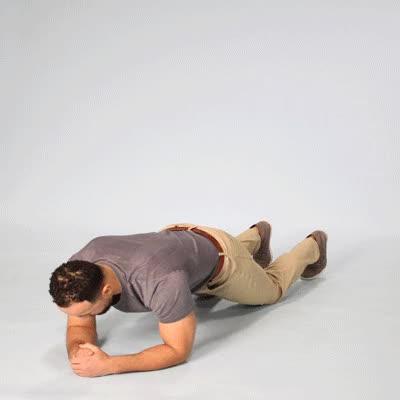Watch and share 400x400 5 Best Ab Exercises For Men Plank GIFs by Healthline on Gfycat