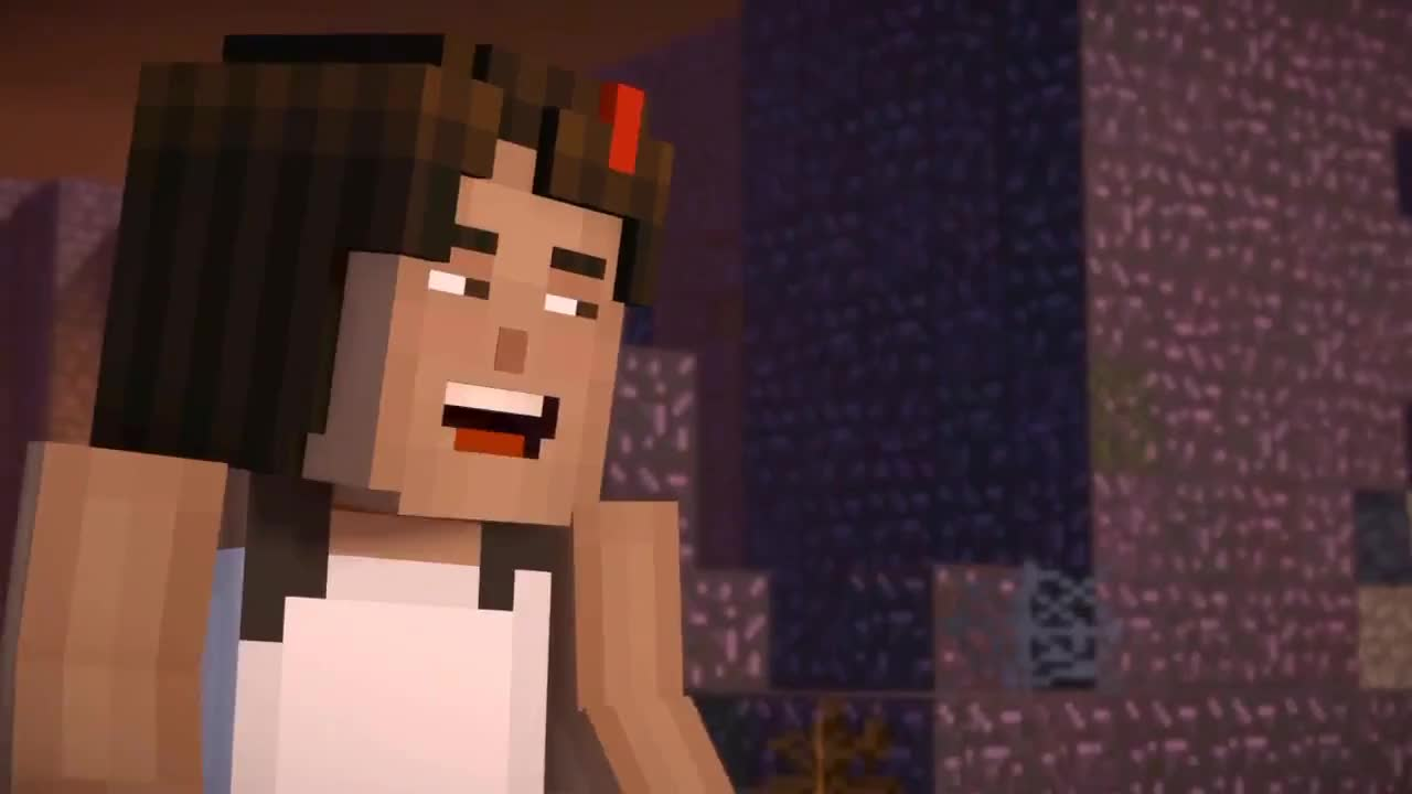 Jesse Talks To Herself Minecraft Story Mode Season 2 Ep 3 Gif Gfycat