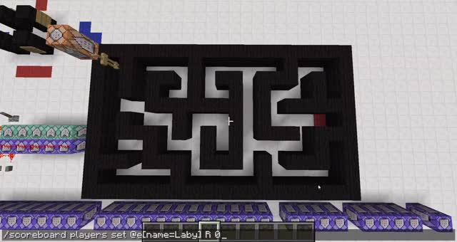 Watch and share Maze Solver Using Command Blocks GIFs by oakenman on Gfycat