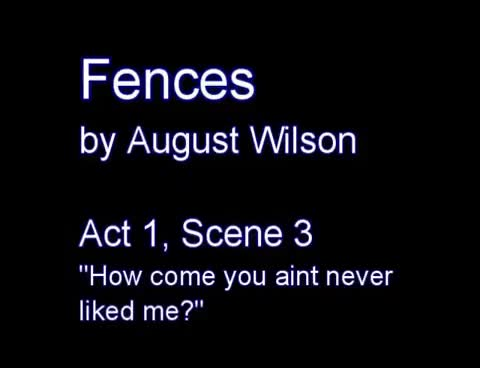 """Watch and share Fences - Analyzing Staging In Act 1, Scene 3 - """"How Come You Ain't Never Liked Me?"""" GIFs on Gfycat"""