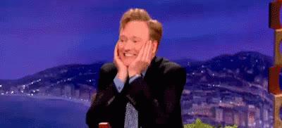 awww, blush, conan obrien, excited, Conan O'Brien Awww GIFs