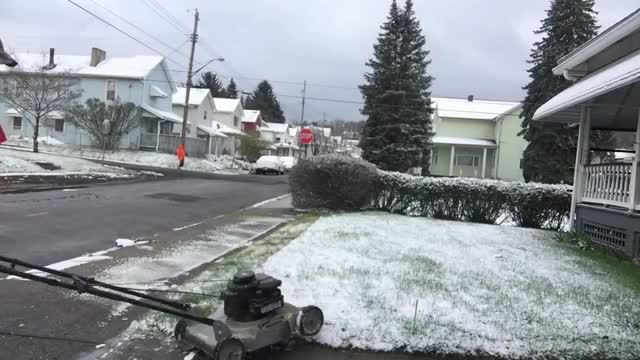 Watch and share Redneck Cutting Grass In The Snow! GIFs on Gfycat