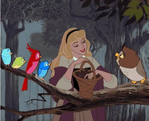 Watch and share Sleeping Beauty Vintage Gif animated stickers on Gfycat