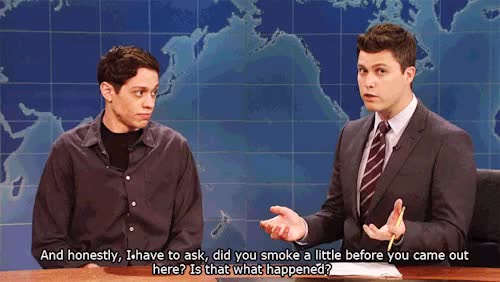 Watch and share Weekend Update GIFs and Pete Davidson GIFs on Gfycat
